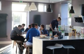 Each junior and senior boarding house has a kitchen