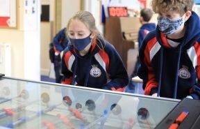 Junior House (Year 7 & 8) pupils enjoy table football